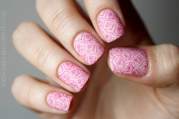 Flower Nail Art Stamp Template DESIGN