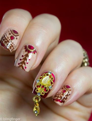 Indian Bridal Nails