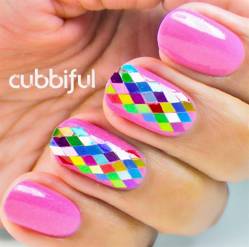 Shiny Diamond Glitter Nails