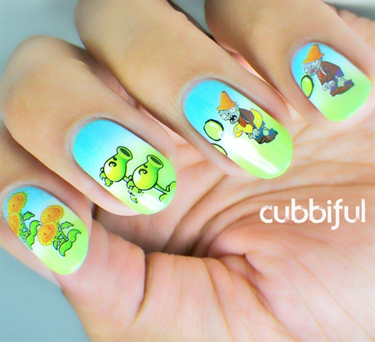 Plants vs. Zombies by BornPrettyNails from Nail Art Gallery