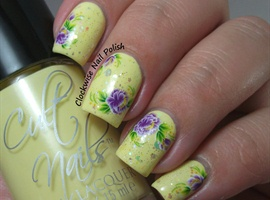 nail art: Yellow Floral Water Decals Nail