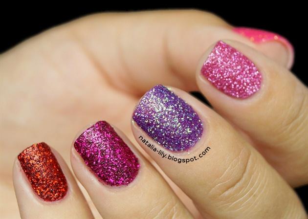 Glitter Sand Nail Design