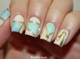 Pretty Zipper Water Decals Nails
