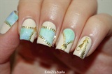 Pretty Zipper Water Decals Nails