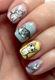 Lovely Kitty Water Decals Nails