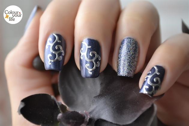 Shimmer Silver 3D Nails