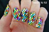 Dazzling Rainbow Glitter Nails