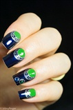 Blue Half Moon Manicure