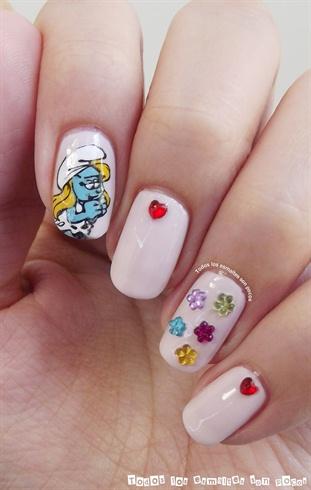 Cute Smurfs Nails