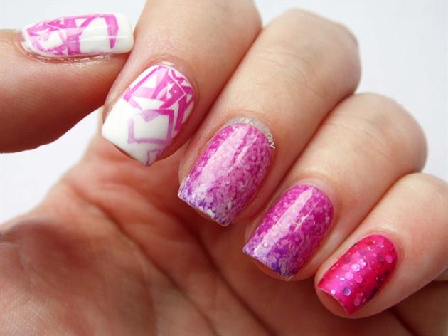 Fancy Peachblow Starry Nails