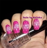 Fantastic Pink Gradient Floral Stamping