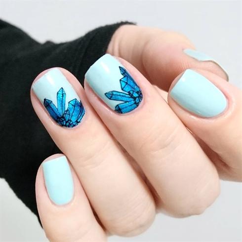 Unicorn nail stamping