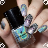 Holographic stamping nails