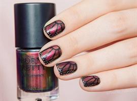 nail art: Chameleon polish nails