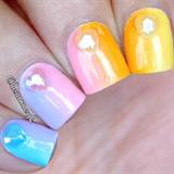 Heart 3D nails