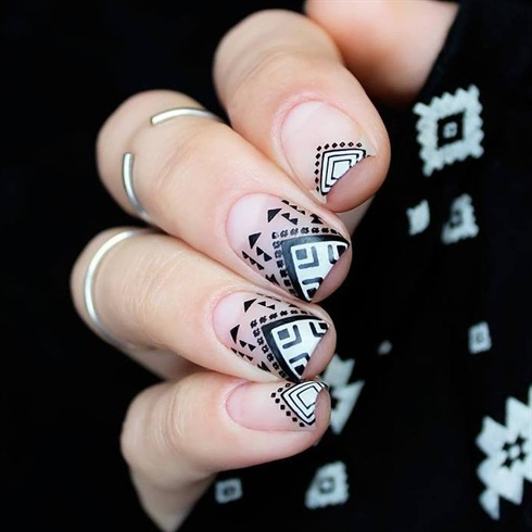 So beautiful geometry nails