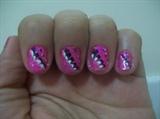 side marble, pink n black