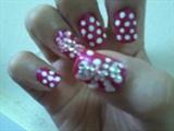 jem bow with poka dots