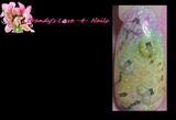 butterfly rainbow fimo nail art