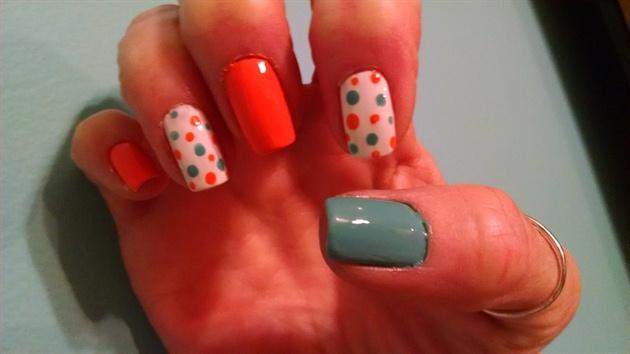 Orange and Blue Springtime!
