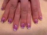 Pink n White with nail art
