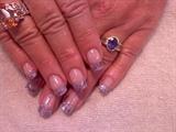 Rock Star with purple sea shells