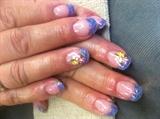 Purple with lavender glitter