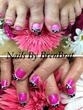 Pink N Black Pokadots