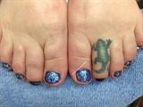 Marbleing Toes