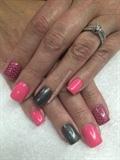 Hot Pink And Gray