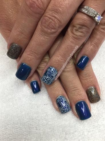 midnight blue  nail art gallery