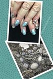Paisley And Blue Hologram Design