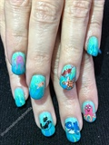 Ocean Themed Birthday Party Nails