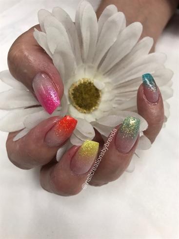 Bright Spring Glitter Ombré