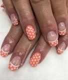 Peachy Spring Color And Polkadots