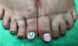 Luck of the Irish toes