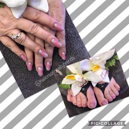 Rosebud and glitter