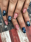 Fourth of July nails 2018