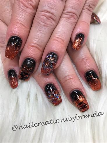 Halloween Glitter Ombre