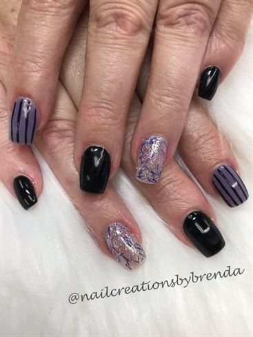 Black And Purple Bling Halloween