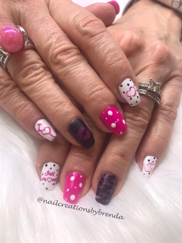 Black And White And pink