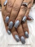Gray denim and sparkle