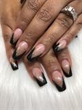 Midnight V-French nails