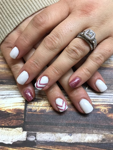 Rose Gold And White
