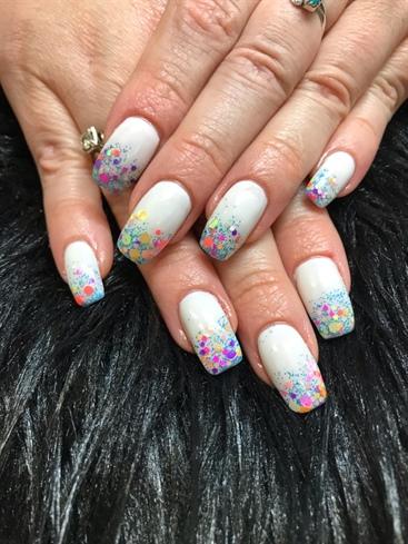 Spring Confetti Nails