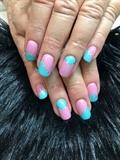 Pink And Aqua