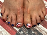 American Waving Flag Toenails