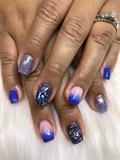Blue mixed glitter