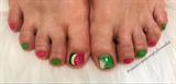 Watermelon And Kiwi Toes