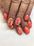 Summer color water marble